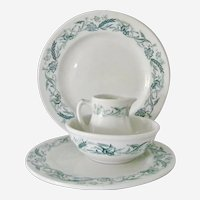 4 pieces Mayer China Restaurant Ware Marilyn pattern Plates Bowl Pitcher