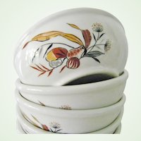 5 Caribe Puerto Rico Restaurant Ware China Bowls Calypso Traditicional pattern Mint Condition