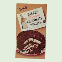 Baker's Favorite Chocolate Recipes 1958, 7th Edition