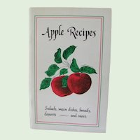 Apple Recipes *  by Jeanne Amero 1983 * Scarce Book First Edition