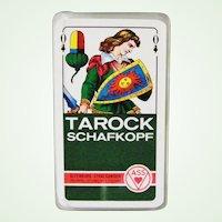 Vintage Schafkopf Tarock Tarot Playing Cards 37 Cards Germany ASS