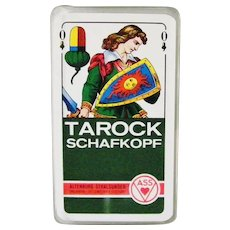Vintage Schafkopf Tarock Tarot Playing Cards 37 Cards Germany ASS