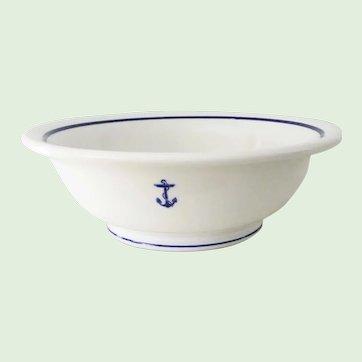 10 Inch Large Shenango China U.S. Navy Fouled Anchor Restaurant Ware Serving Bowl