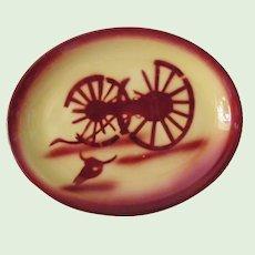 vintage Tepco China Broken Wagon Wheel Restaurant Ware Platter