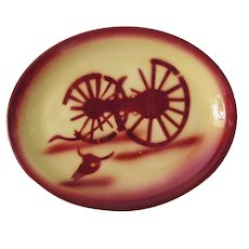 vintage Tepco China Broken Wagon Wheel Restaurant Ware Platter