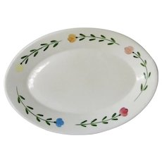 Coors China Alox Restaurant Ware Platter Bella Flora pattern 1980s