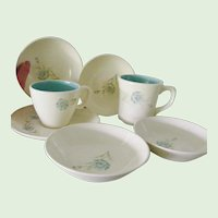 7 pieces Taylor Smith Taylor Bachelor Button Boutennierre Cup Mug bowls saucer