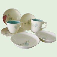7 pieces Taylor Smith Taylor Bachelor Button Boutennierre Cup Mug bowls saucer