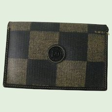 Vintage Fendi Mens Credit Card wallet with number, Italy