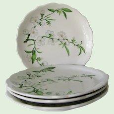 "4 Syracuse China Restaurant Ware Park Lane 10"" Dinner Plates Apple Blossom"