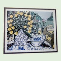 "Brooke Howie Framed Lithograph ""Calico"" 1994"