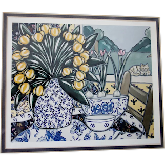 """Brooke Howie Framed Lithograph """"Calico"""" 1994"""