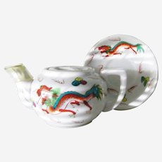 Red Dragon Teapot and  Saucer Restaurant Ware