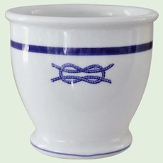 U.S. Navy Junior Grade Officer Blue Square Knot Egg Cup Custard Cup