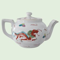 Red Dragon Tea Pot w/ Lid Restaurant Ware  Asian Chinese Japan