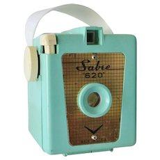 Vintage Sabre 620 Turquoise Box Camera