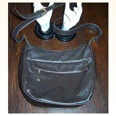 Vintage Brown Leather Hobo Shoulder Bag