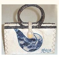 Organic Abaca Handbag Mint condition Ecological