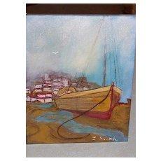 Signed 8x10 Original Oil Painting - Nautical California