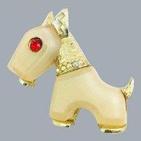 Vintage Hattie Carnegie Scottie Dog Primitives On Parade KJL Designed Brooch