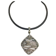 """Joseph Esposito ESPO Sig Sterling Silver 925 Modernist Choker Necklace 16"""""""