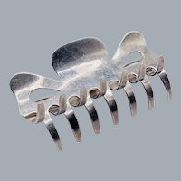 Sterling Silver Pat Areias Hair Barrette Claw Clip Comb Rake Southwest