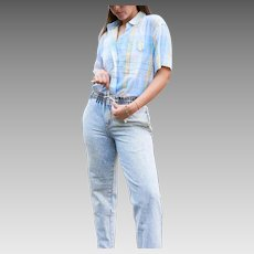 Vintage Acid Washed 1980s Mom Jeans