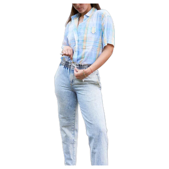 Vintage Acid Washed 1980s Mom Jeans