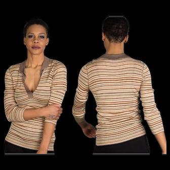 DOLCE & GABBANA Stripe Stretch Sweater, Dolce and Gabbana, New Vintage 1998