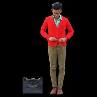 Vibrant Red Cardigan
