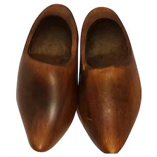 """Vintage Mini or Small Wooden Dutch Clogs Shoes 6"""""""