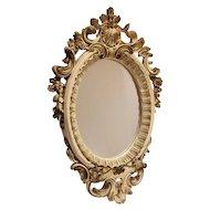 Vintage Baroque Plaster Mirror Ornate Design Chicago USA Wall Hanging