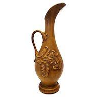 Mid Century Modern Haeger Vase Vintage Art Pottery Large Gold Pitcher Ornate