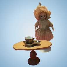 French old miniature Limoges handpainted déjeuner - Doll's House Size!