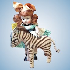 German Steiff's Smallest Velvet Zebra 1950's