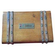 "Antique Master Chocolatier ""Boissier"" French Chocolates wooden Box WW1"