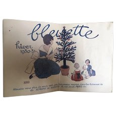 French old Bleuette GL catalogue Winter 1930/31