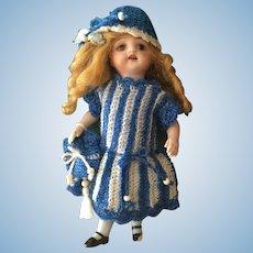 3-Piece French woolen Dress for All Bisque Doll, La poupée Modèle size!