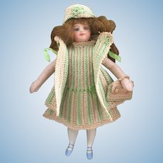 Very lovely 4-Piece French Crochet Dress for All Bisque Doll!