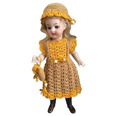 Very lovely 3-Piece French Crochet Dress for All Bisque Doll!