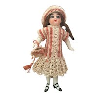 "Lovely 5"" German all bisque doll for the French market"