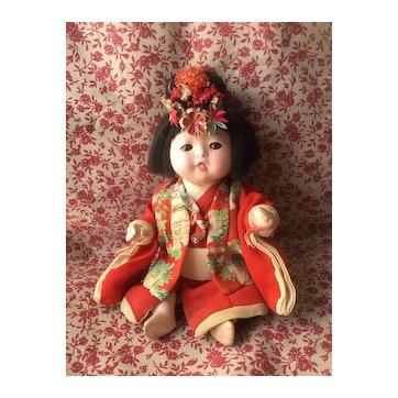 Lovely Chubby Ichimatsu Gofun  Japanese Baby Doll