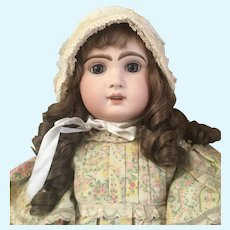 Lovely French white bonnet for Jumeau doll size 12