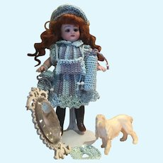 Very lovely 6-Pieces French Crochet Dress for All Bisque Doll size 1