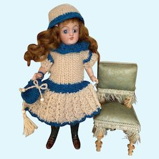 Very lovely 3-Piece French woolen Dress  for All Bisque Doll size 3