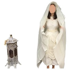 Exceptional French old first communion gown