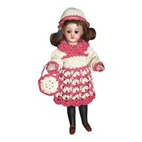 Very lovely 3-Piece French Crochet Dress for All Bisque Doll size 2