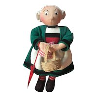 Very cute vintage tiny French Bécassine doll