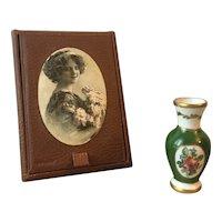Sweet little Limoges porcelain vase for your French poupée! (last chance)