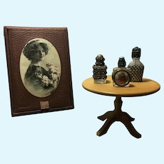 Lovely set of 3 French miniature perfume bottles for your French poupée!
